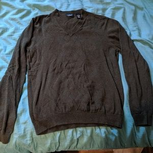 VanHeusen Olive Green Cotton Sweater Small